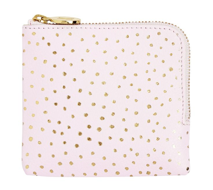 This cute Leather Pouch is perfect for holding all your small daily essentials, from coins to little stationery items. The handy zip keeps everything safe, while the gorgeous gold foil pattern is sure to add some fun to your day. Love matching this back with your planner; adding a coordinated style to your stationery wardrobe.