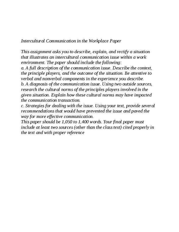 intercultural conversation papers