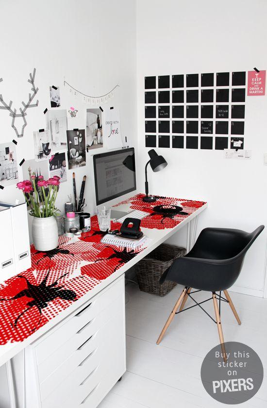 Poppies • Scandinavian – Office • Pixers® • We live to change – Lintball Prints