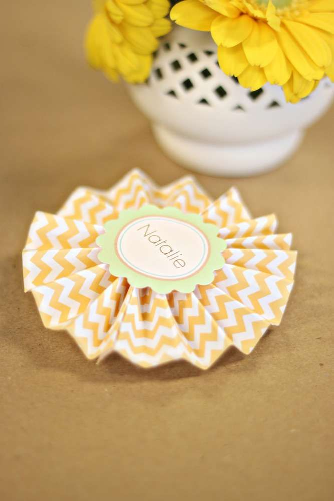 Baby Shower name tag