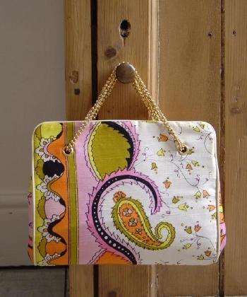 Retro Vintage 1960s Designer Emilio Pucci Handbag