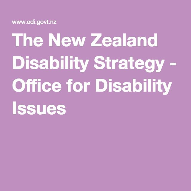 The New Zealand Disability Strategy - Office for Disability Issues