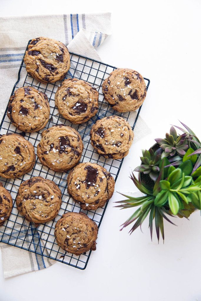 Sea Salted Olive Oil Chocolate Chip Cookies.