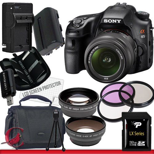 Sony SLT-A65 Sony Alpha SLT-A65 DSLR Digital Camera with 18-55mm Lens Package 3