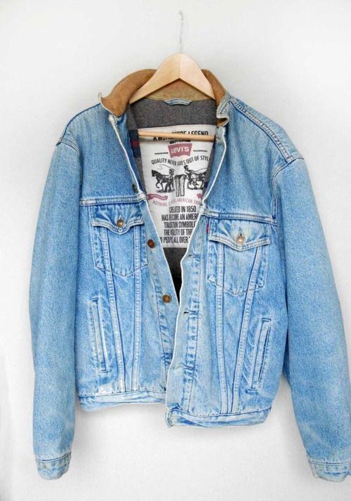 great denim jacket levis jeans fashion men tumblr streetstyle
