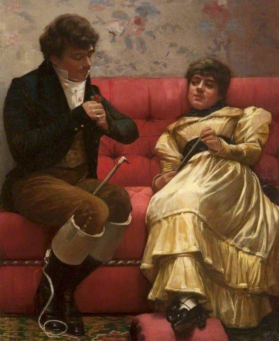 A Conquest, a Heart for a Rose by John Lavery, 1882: