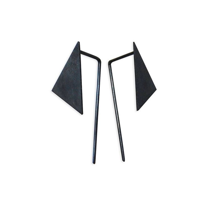 Modern Jewelry // Les Geometriques Nro 8 Earrings \ AgJc at Adorn Milk