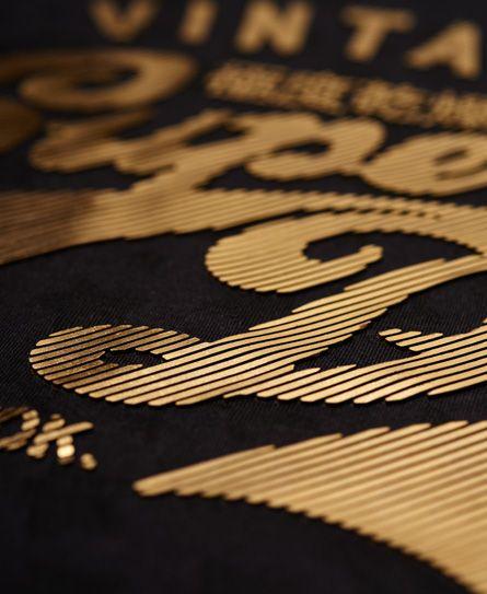 Superdry Stacker Burnout T-shirt Black