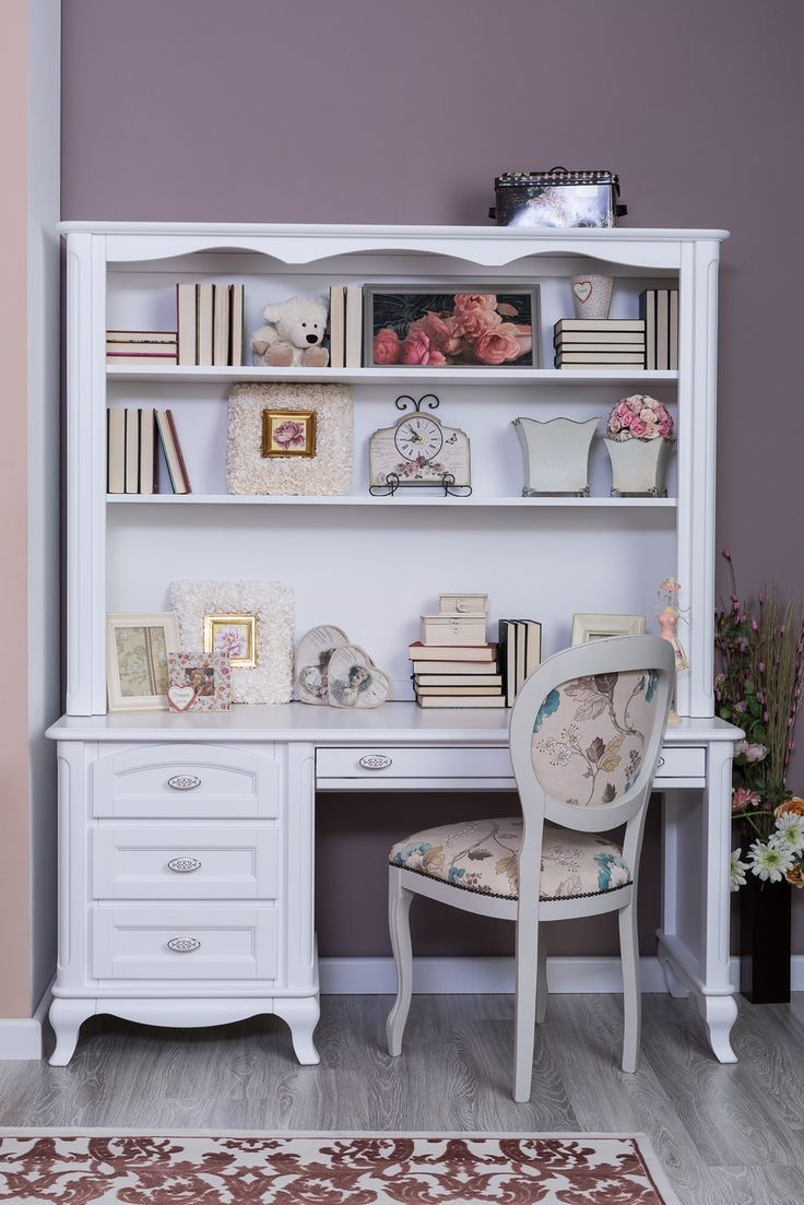 Cleopatra Desk In Solid White Finish. We Miss School, Already!