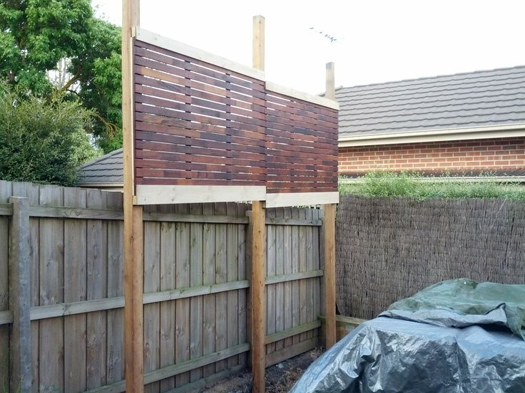 11 best privacy screen images on pinterest decks for Back fence screening ideas