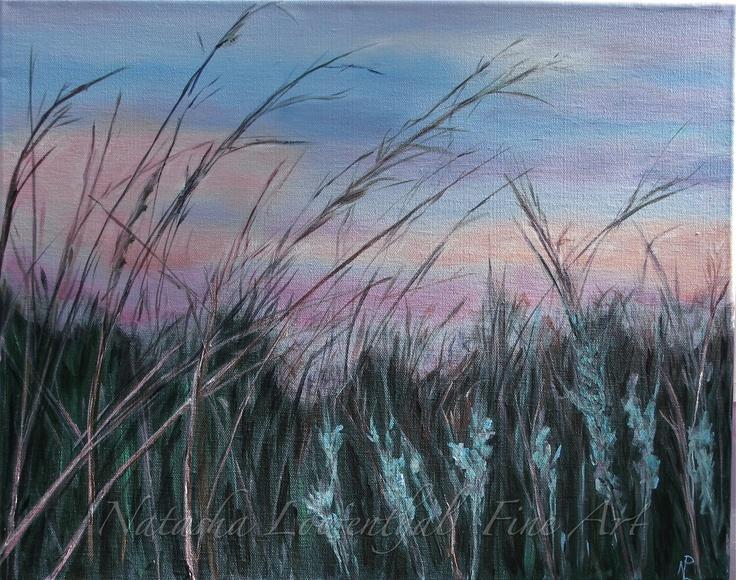 """""""Tall Grass Prairie"""", by Natasha Lowenthal, acrylic on canvas, nature, prairie beauty, prairie grass"""