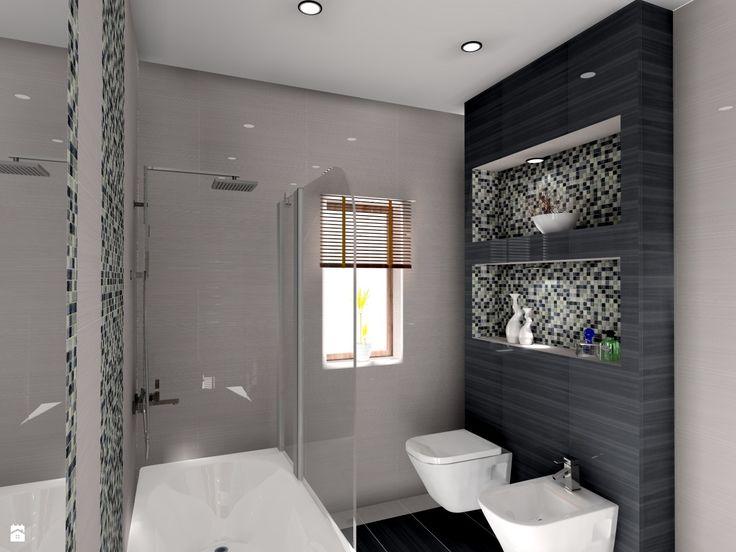 łazienka ze szklaną mozaiką - zdjęcie od BAMARI Studio Architektury Wnętrz - Łazienka - Styl Nowoczesny - BAMARI Studio Architektury Wnętrz