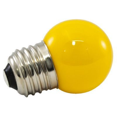 American Lighting LLC Yellow Frosted 120-Volt LED Light Bulb Wattage: 1
