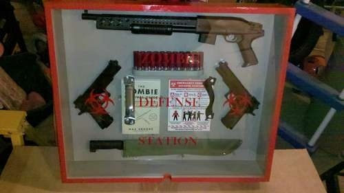 In Case of Zombies, Break Glass: Defense Stations, Defen Stations, 01 Zombies, Cases, Break Glasses, Basements Funny Zombie Defense, Basements Funny Zombies Defen, Zombies Eating