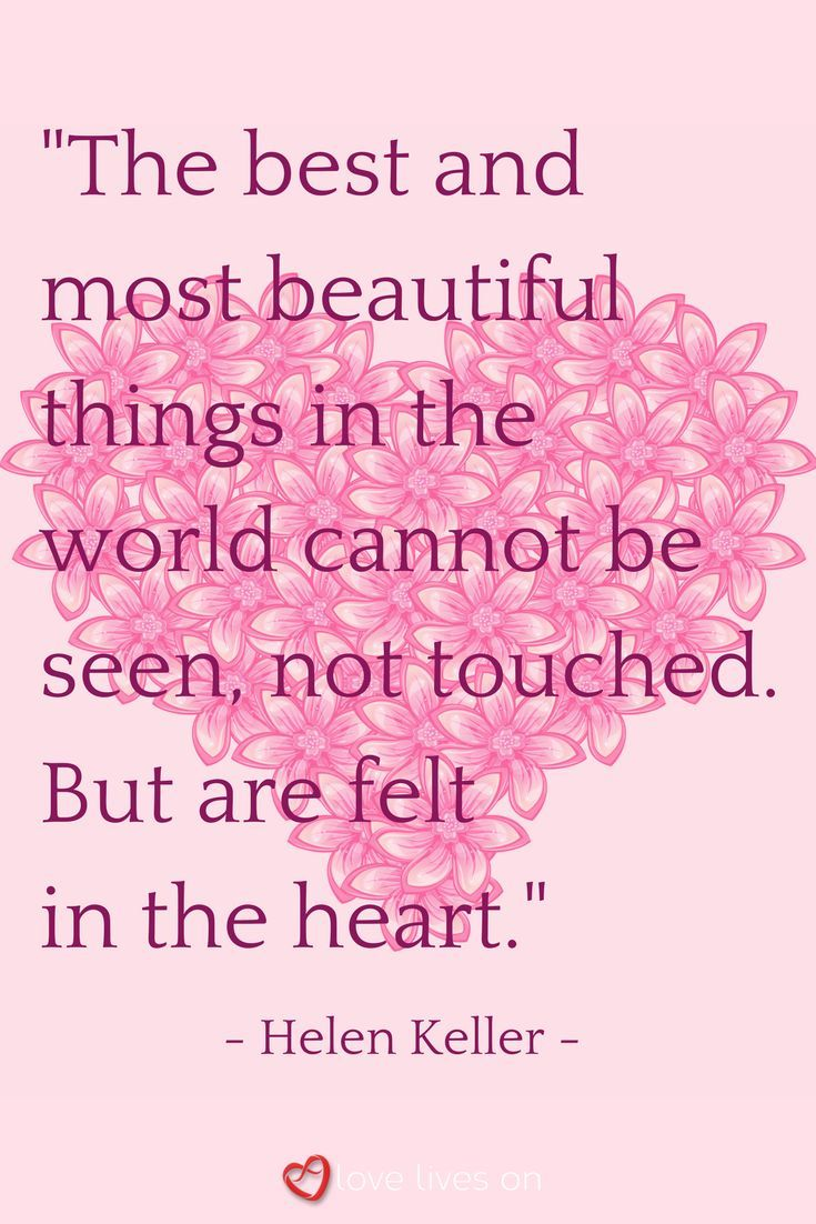 A beautiful funeral quote from Helen Keller - one of the wisest and most inspirational women in the world.