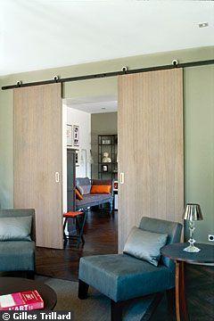 Double salon avec portes coulissantes - Donner une touche personnelle à sa déco - CôtéMaison.fr