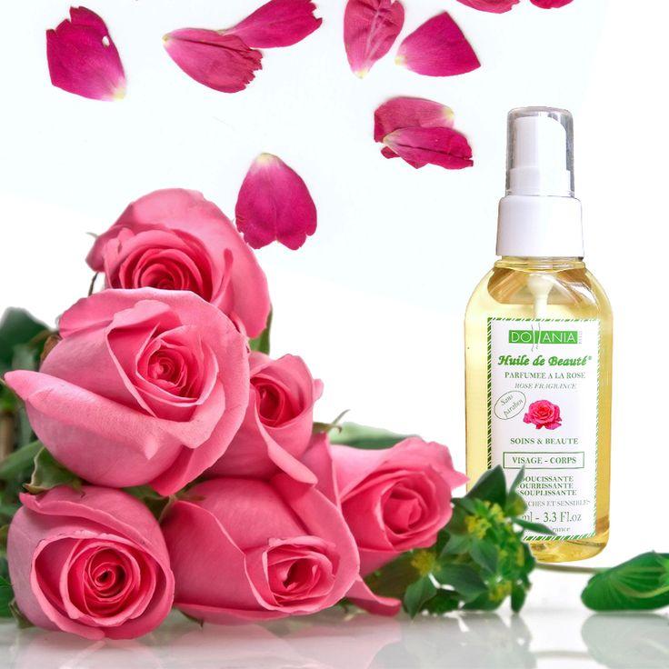 Ulei cu parfum de trandafir Vegetal, 100% pur   Descriere : Redă elasticitate pielii. Aceasta rămâne hidratată în profunzime şi uşor parfumată. Nu conţine parabeni. Cantitate : 100 ml. Suprafeţe de utilizare : corp, faţă şi gât. Fabricat în Franţa.