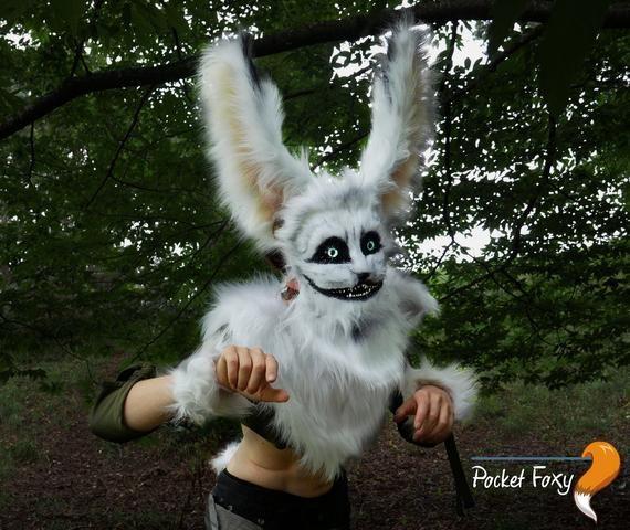 New Rabbit White Fur Mask