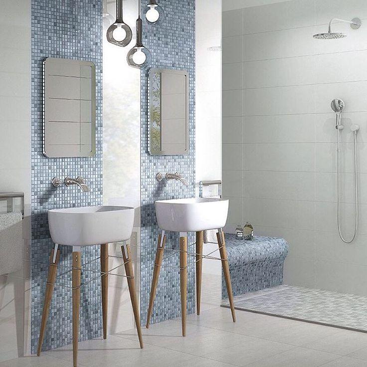 Skap liv, personlighet og fargespill i rommet med innslag av mosaikk fra Jasba Fresh  #modenafliser #modena #fliser #ceramic #wall #floor #tiles…