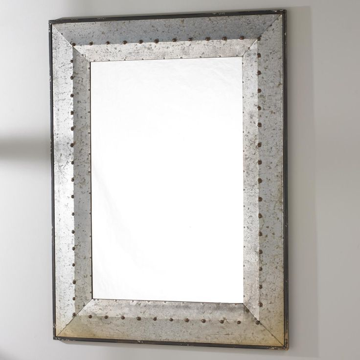 metal framed mirrors bathroom metal industrial rivet mirror industrial 19449