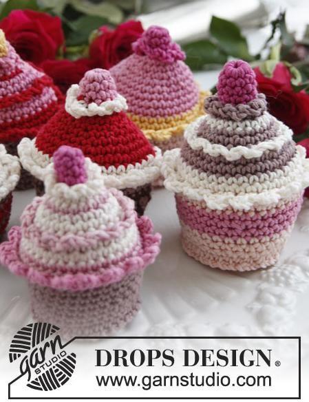 Gratis patronen cupcakes breien of haken - Hobby
