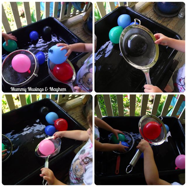 Balloon fishing - 24 Amazing Montessori Inspired Summer Activities For Toddlers