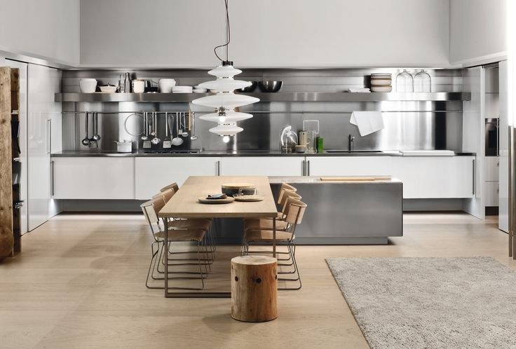 Simple Kitchen With Aluminium Furniture Design For Small Space by ...