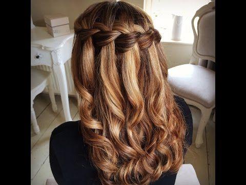 Waterfall Braid by SweetHearts Hair Design - YouTube