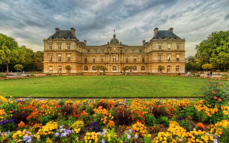 Lüksemburg bahçeleri  , Paris, Fransa ( Luxembourg Gardens , Paris, France )