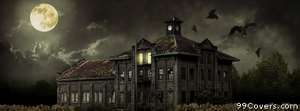 halloween scary house Facebook Cover