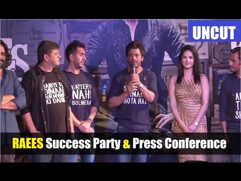 RAEES Success Party & Press Conference | Shahrukh Khan, Sunny Leone, Nawazuddin Siddiqui. Click here to see full video >>> https://youtu.be/1_izm_86ae0 #raees #shahrukhkhan #sunnyleone #nawazuddinsiddqui #bollywood #bollywoodnews #bollywoodnewsvilla