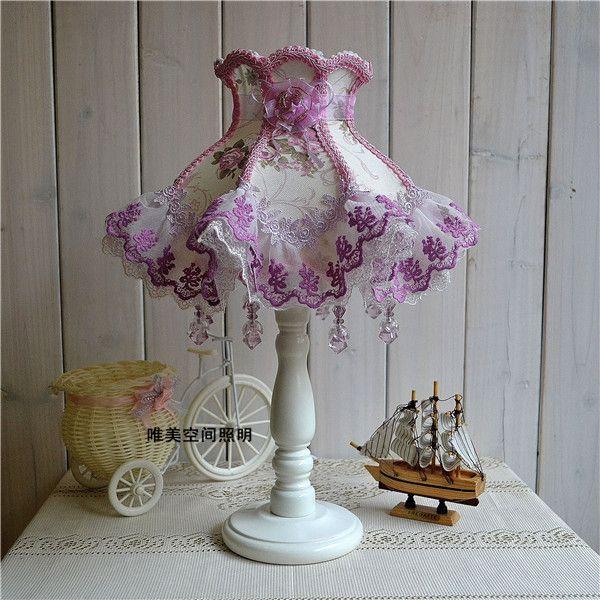 Tischleuchten europäischen Stil Spitze Hochzeit Garten Lampe Tuch exquisite Romantische koreanische Prinzessin Nachttischlampe