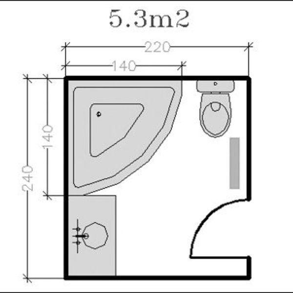 Les 25 meilleures id es concernant baignoire d 39 angle sur for Plan de salle de bain avec douche