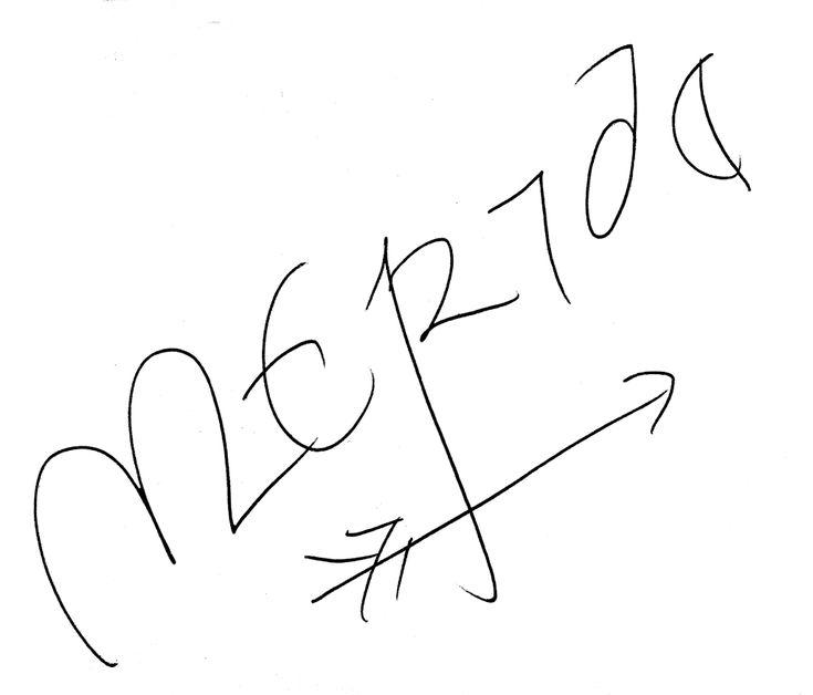 Merida's signature