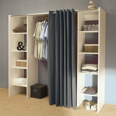 45 best dressing images on pinterest organization dressings and home decor - Armoire pour chambre mansardee ...