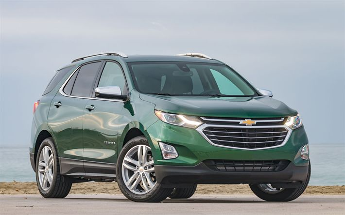 Download wallpapers Chevrolet Equinox, 2018 cars, crossovers, grenn Equinox, Chevrolet