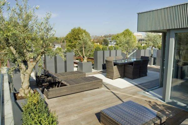 Sichtschutz für Terrassen - Blumenkübel