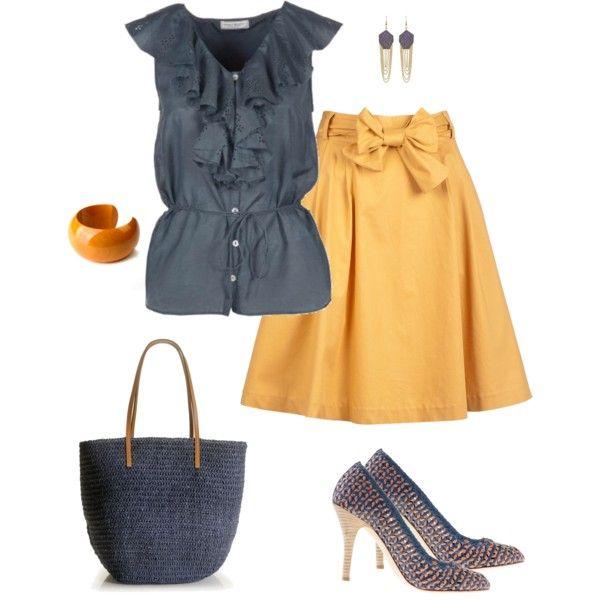 Mustard & Blue ComfyComfy Dressy, Yellow Skirts, Mustard Skirts, Chase Kids, Cuff Bracelets, Yellow Cuffs, Navy Blue, Women Clothing, Blue Comfy