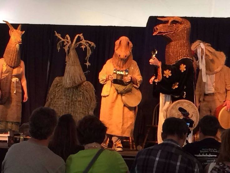 """Milwaukee Irish Fest 2014:   The Armagh Rhymers perform """"The Wake of King Brian"""" at the Theatre Pavilion stage at Milwaukee Irish Fest   Ancient - Ritual - Mummers - Pagan - Celtic Spirituality - Alternative - Drama - Poetry - Irish Music - Festivals"""