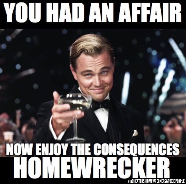 ENJOY THE CONSEQUENCES HOMEWRECKER #homewrecker #cheating #affair  #sociopath -Inspiration credit to singer/songwriter & HOMEWRECKER Alla  Hayes fake/other ...