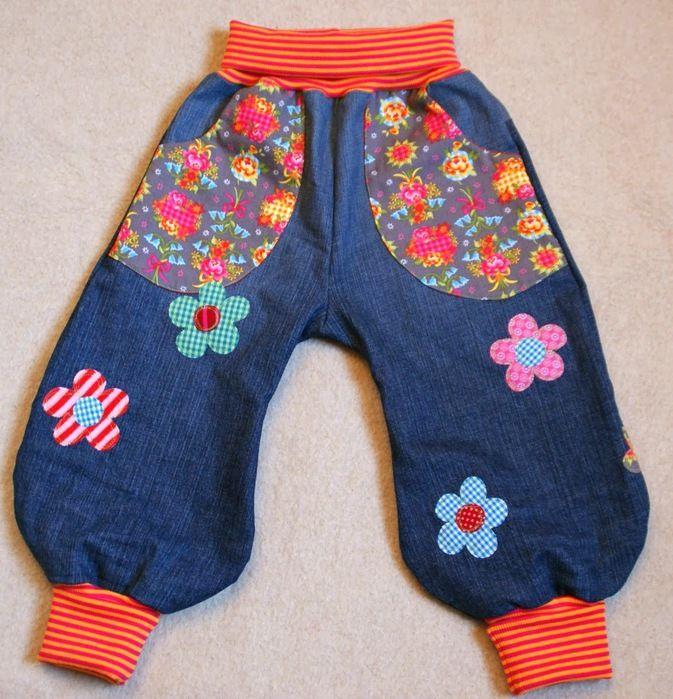Переделки из старых джинсов для детей
