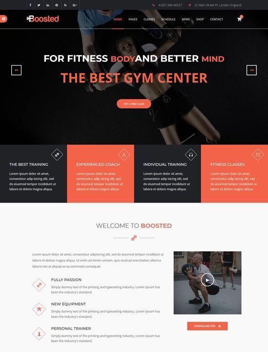 40+ Best Fitness Gym Website Templates Free & Premium