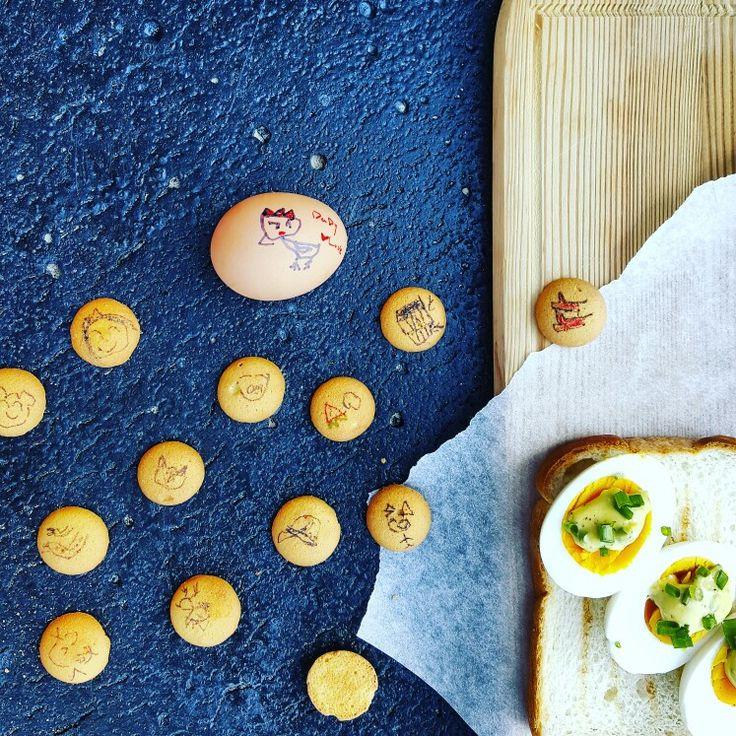 굿모닝~~^^♡ 계란 샌드위치 만드는 동안~~우리 큰딸 계란과자에 뭘한거야?ㅋ #일상#아침#조식#계란샌드위치#breakfast #egg#eggcookie#sandwich#통영#좋다. #goodmorning