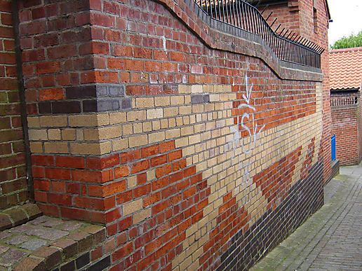 Brick work dachshund