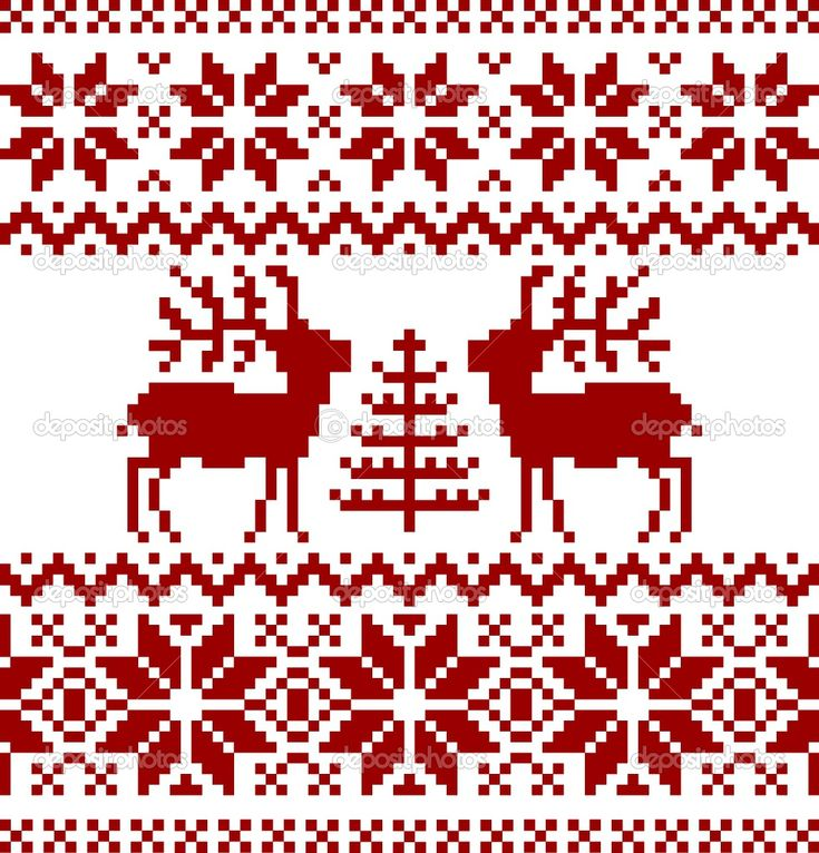 traditional norwegian patterns - Europe Cross-Stitch or knitting or Hardunger needlework
