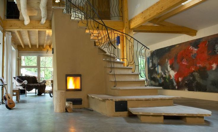 Best Masonry Heater Staircases In 2020 Rammed Earth Homes 640 x 480