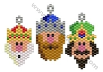 3 Wise Men Kings Charms  Bead Pattern By ThreadABead