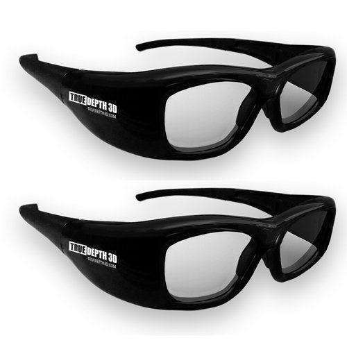 The new True Depth 3D shutter glasses for Sharp 3D TVs provide a high quality low cost solution for viewing 3D images, movies and games on most Sharp 3D TVs!* These infrared glasses feature a larger viewing area and a clearer image than other 3D shutter glasses on the market today. These come with a storage pouch and a cloth to clean the glasses as well as 3 sets of interchangeable nose pads making them adjustable for children or adults! Each pai...