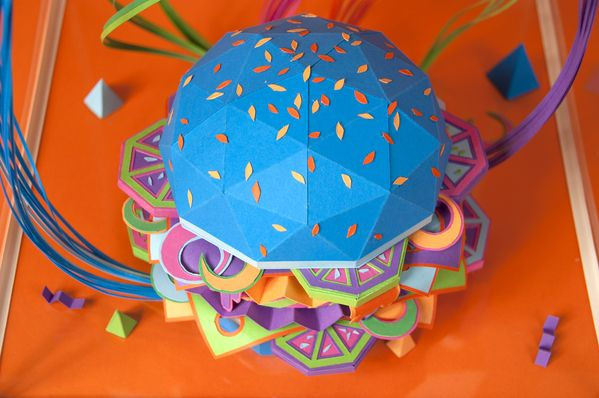 The Future of Food paper magazines geometric food covers
