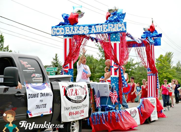fourth of july float decorations